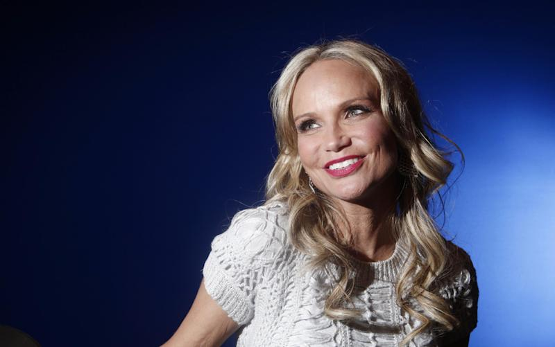 "In this Feb. 28, 2012 photo, actress Kristin Chenoweth poses for a portrait while promoting her ABC show ""GCB,"" in New York. Chenoweth says she's still on the mend after suffering injuries last July while filming the CBS drama ""The Good Wife.""  Appearing on ""Live! with Kelly & Michael"" on Friday, Sept. 7, the pixyish actress offered details of the accident, which happened during a New York location shoot. (AP Photo/Carlo Allegri, file)"
