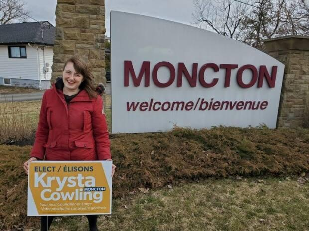 Krysta Cowling ran for councillor-at-large in Moncton and came fourth out of seven candidates. (Facebook - image credit)