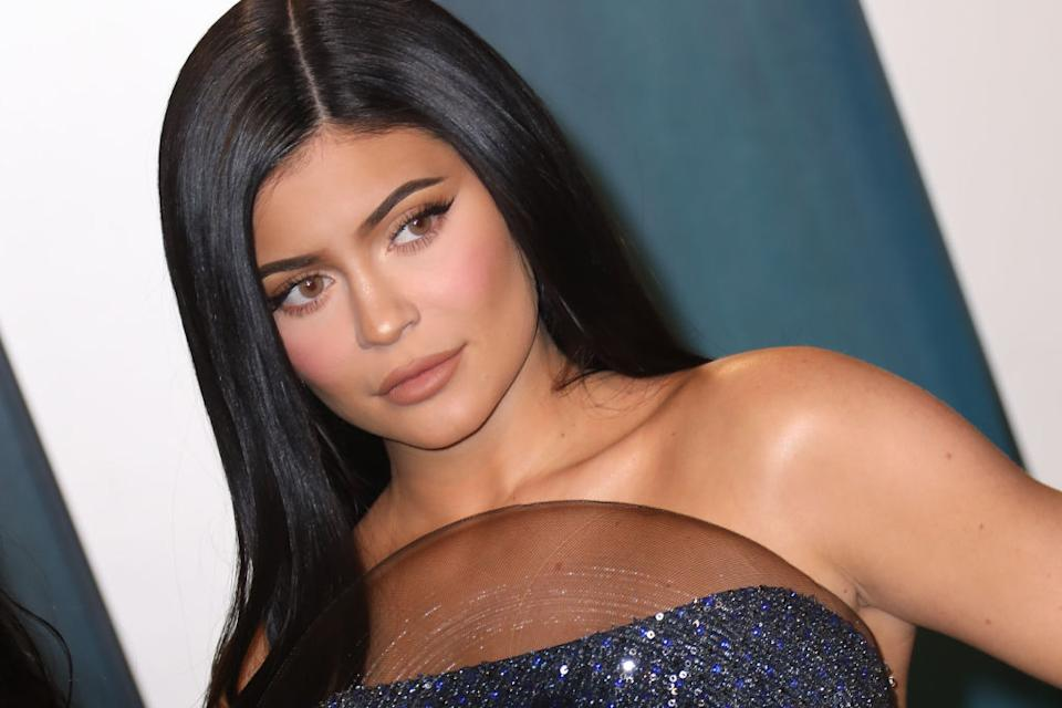 Kylie Jenner's latest Instagram post has caused quite a stir, pictured at the Vanity Fair Oscar Party in February, 2020. (Getty Images)