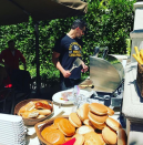 """<p>The <em>Magic Mike</em> star seemed in all his manly glory manning the grill and feed the masses at his home. (Photo:<a rel=""""nofollow noopener"""" href=""""https://www.instagram.com/p/BWJ32RNjM2P/?taken-by=joemanganiello&hl=en"""" target=""""_blank"""" data-ylk=""""slk:Joe Manganiello via Instagram"""" class=""""link rapid-noclick-resp""""> Joe Manganiello via Instagram</a>) </p>"""