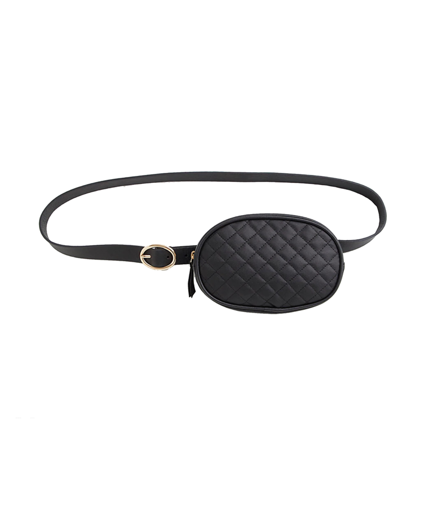Torrid Black Oval Quilted Belt Bag (Photo: Torrid)