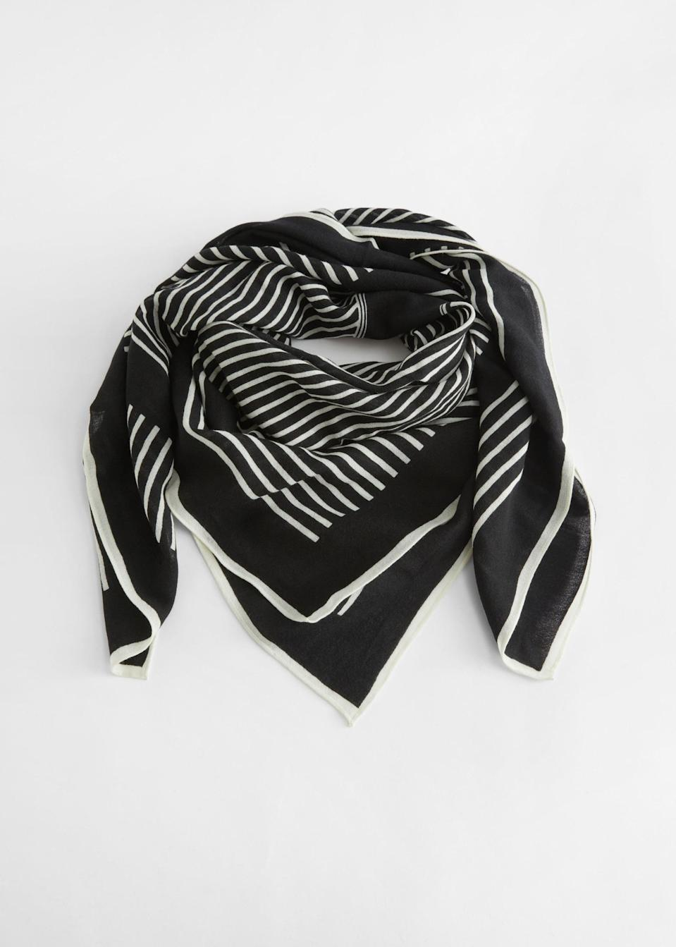 <p><span>&amp; Other Stories Striped Scarf</span> ($59)</p>