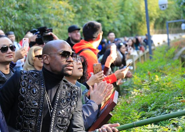 Mayweather is on a tour of China that is taking in Beijing, Chengdu, Shanghai, Hong Kong and Macau (AFP Photo/-)