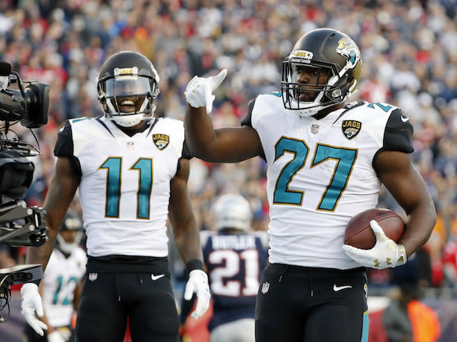 For fantasy purposes, it's Leonard Fournette, the D/ST and a whole bunch of question marks in Jacksonville. (AP Photo/Winslow Townson)