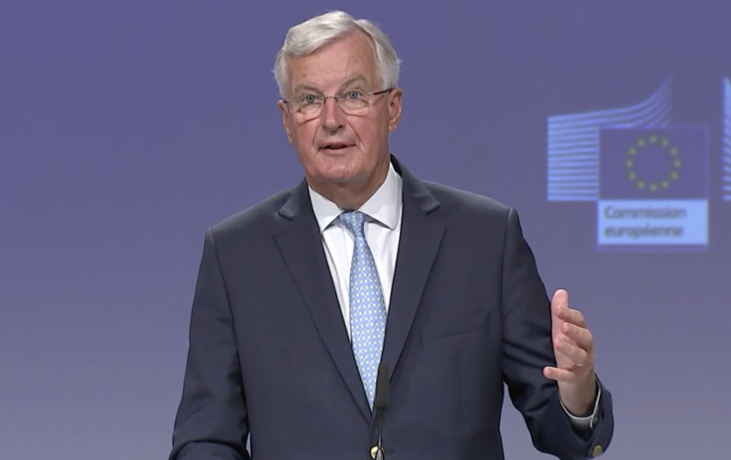 Michel Barnier on Friday. (European Commission)