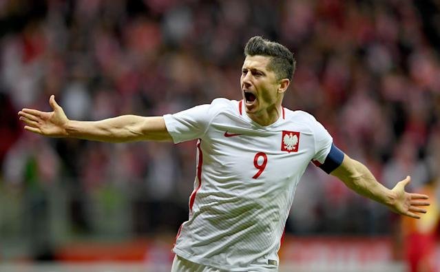 Robert Lewandowski will lead the line for Poland at the 2018 World Cup. (Getty)