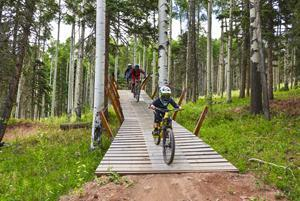 Awarded #1 Bike Park in the Southwest by MTBParks.com, Angel Fire Bike Park, the largest Bike Park in the Rockies, opens more than 60 miles of trails on May 14. Angel Fire maintains over 100 miles of downhill and cross-country green belt trails for all ability levels that also ties into the National Forest trail network, including the highly praised South Boundary Trail. The bike park will offer the longest season in its history, with 131 days of riding.