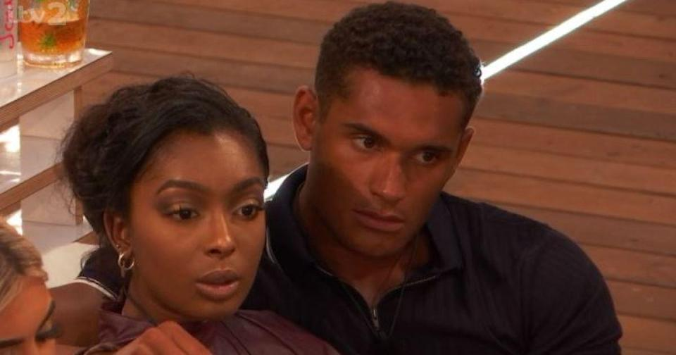 """<p><strong>Relationship status: <strong>Broken up / </strong></strong><strong>Mugged off</strong></p><p>They were one of the last remaining couples from the series, but <a href=""""https://www.cosmopolitan.com/uk/entertainment/a29626143/love-islands-jourdan-danny-split/"""" rel=""""nofollow noopener"""" target=""""_blank"""" data-ylk=""""slk:they've also now reportedly called it quits."""" class=""""link rapid-noclick-resp"""">they've also now reportedly called it quits.</a> """"Jourdan started to hear rumours he was speaking to other girls behind her back. She confronted him about it but he just laughed it off,"""" a source told The Sun.<br></p>"""