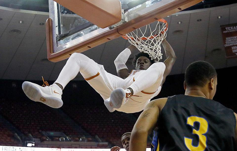 University of Texas star guard Andrew Jones took another leap forward in his battle against leukemia. (Getty Images)