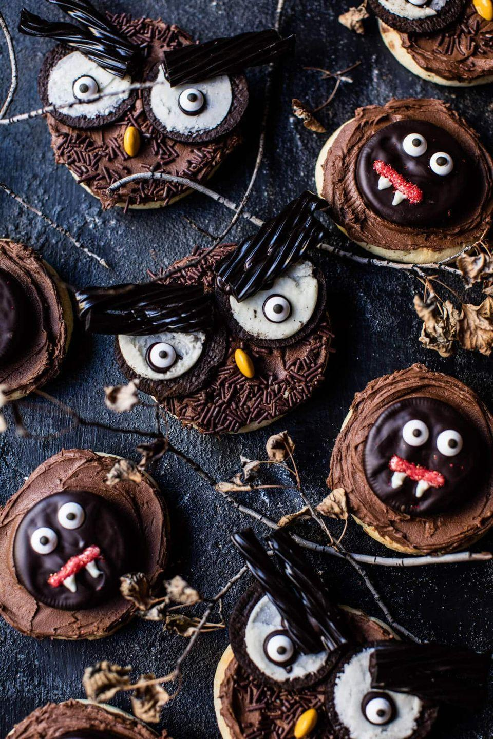 "<p>They'll be a graveyard smash!</p><p>Get the recipe from <a href=""https://www.halfbakedharvest.com/monster-mash-cookies/"" rel=""nofollow noopener"" target=""_blank"" data-ylk=""slk:Half Baked Harvest"" class=""link rapid-noclick-resp"">Half Baked Harvest</a>.</p>"