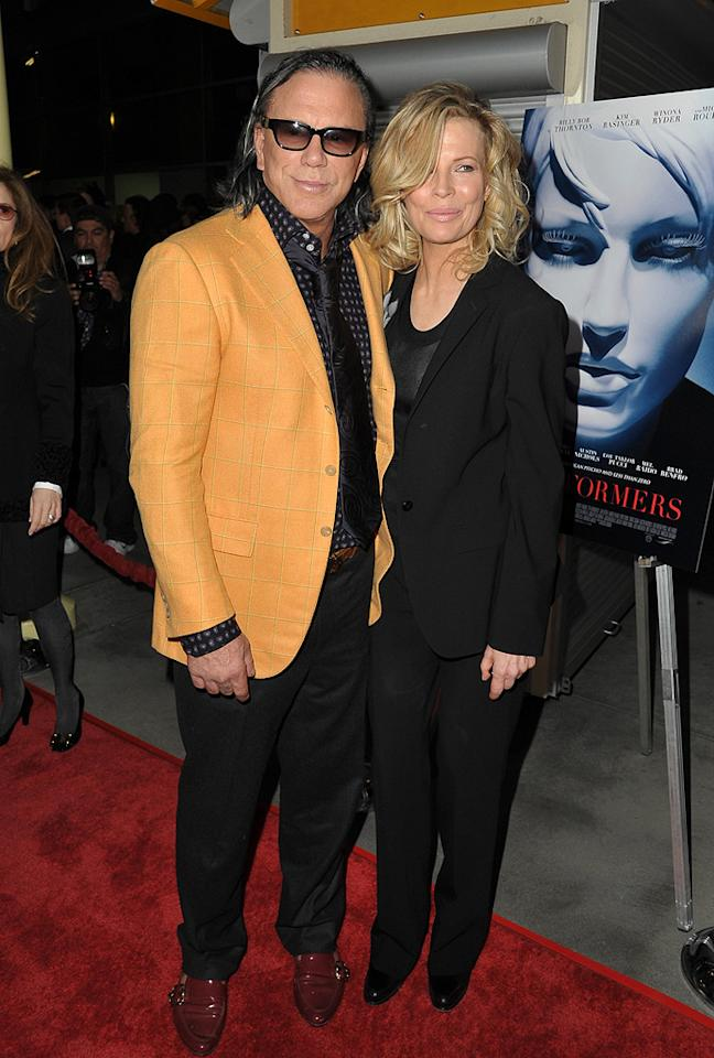 """<a href=""""http://movies.yahoo.com/movie/contributor/1800010853"""">Mickey Rourke</a> and <a href=""""http://movies.yahoo.com/movie/contributor/1800011707"""">Kim Basinger</a> at the Los Angeles premiere of <a href=""""http://movies.yahoo.com/movie/1809946368/info"""">The Informers</a> - 04/16/2009"""