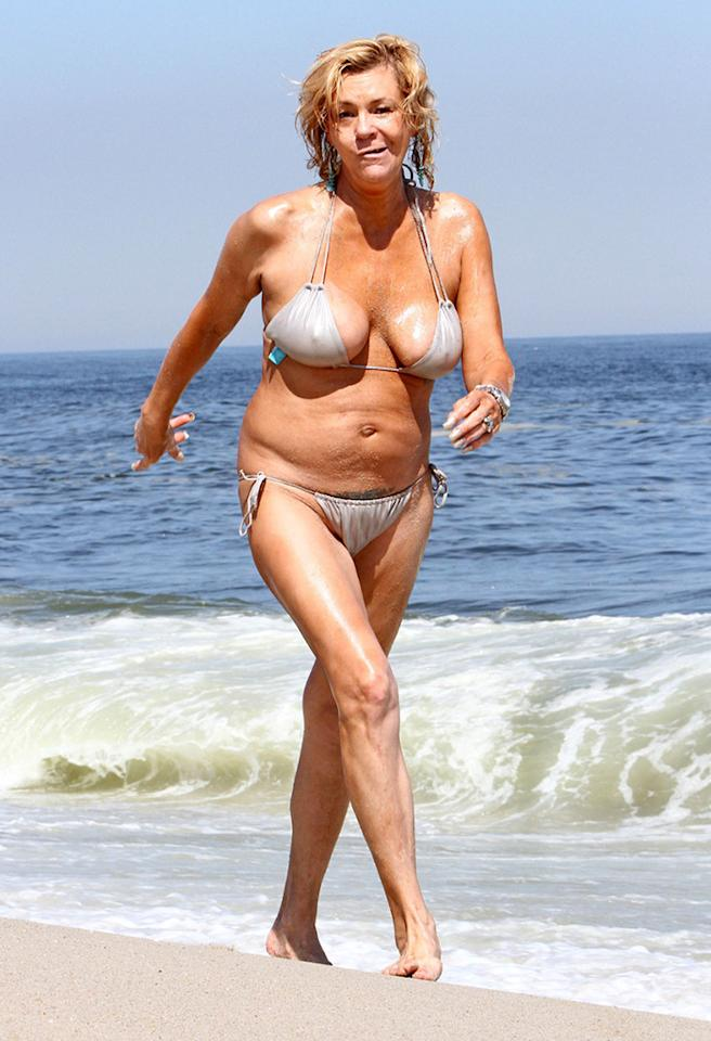 <b>Who:</b> Tanning Mom (aka Patricia Krentcil)<br><br> <b>Wearing:</b> silver bikini, not enough sunscreen<br><br> <b>Where:</b> the Jersey Shore, obviously (4/17/2013)<br><br> Check out this week's 2 Hot 2 Handle fashion gallery!