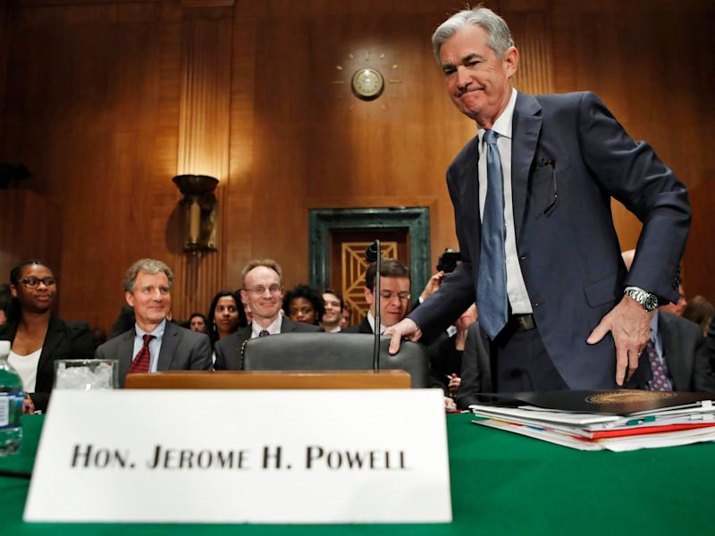The new Federal Reserve chair Jerome Powell took office in February: AP