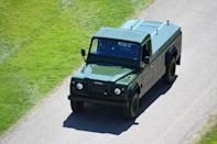 <p>Prior to his death, Prince Philip customized a Land Rover to carry his coffin. The Land Rover hearse drove in the processional. </p>