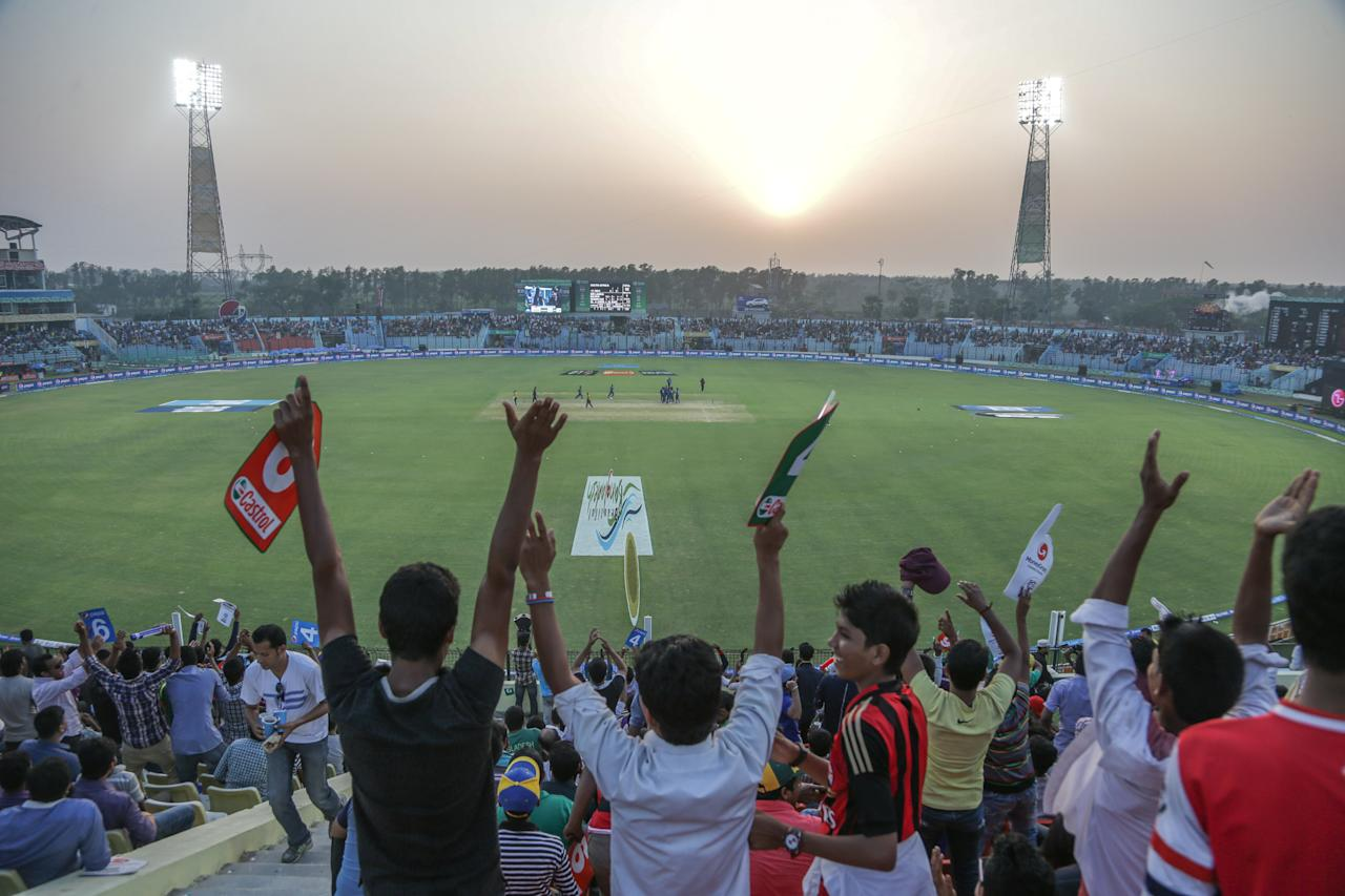 CHITTAGONG, BANGLADESH - MARCH 22: A general view during the Sri Lanka v South Africa match at the ICC World Twenty20 Bangladesh 2014 played at Zahur Ahmed Chowdhury Stadium on March 22, 2014 in Chittagong, Bangladesh. (Photo by Graham Crouch-IDI/IDI via Getty Images)