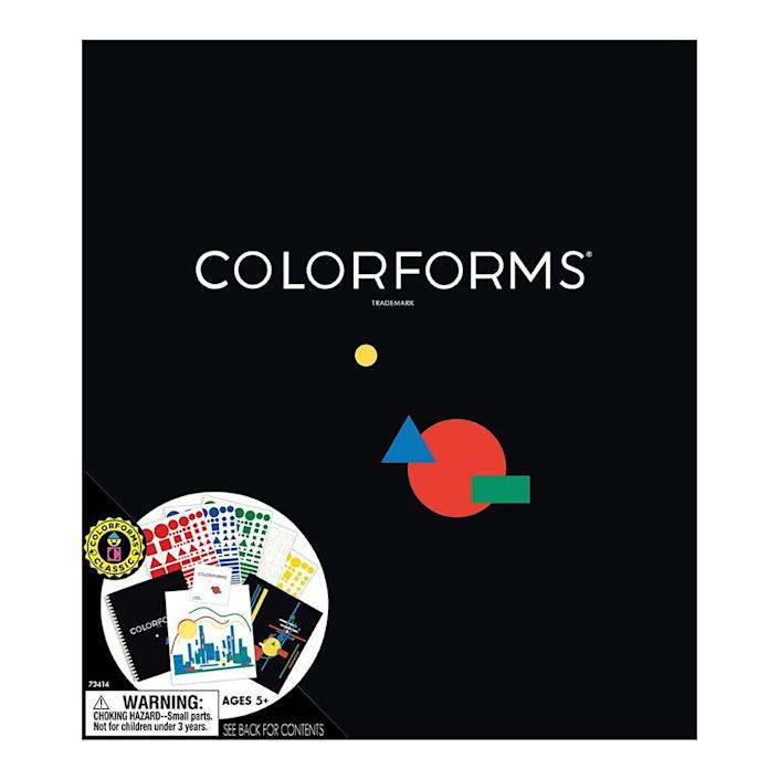 """<p><a class=""""link rapid-noclick-resp"""" href=""""https://www.amazon.com/Retro-The-Original-Colorforms-Set/dp/B000BNEODU?tag=syn-yahoo-20&ascsubtag=%5Bartid%7C10063.g.34738490%5Bsrc%7Cyahoo-us"""" rel=""""nofollow noopener"""" target=""""_blank"""" data-ylk=""""slk:BUY NOW"""">BUY NOW</a><br></p><p>Colorforms allowed you to peel different adhesive-free, vinyl characters and stick them to any background. During their early release in 1951, the """"stickers"""" were colored shapes that could be used for games and puzzles. Within a few years, there were licensing deals to create themed Colorforms, like Gumby and the Smurfs.</p>"""