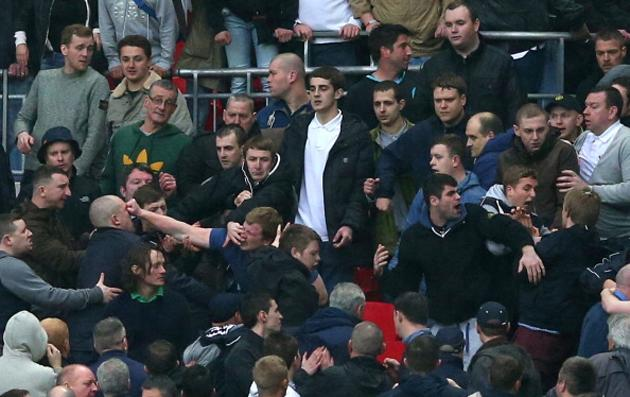 Millwall fans brawl among themselves (Getty)