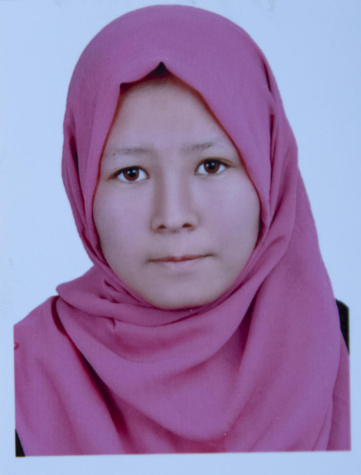 This undated photo released by the family shows Freshta Alizada who was among nearly 100 people killed in bombing attacks outside her school on May 8, 2021. Fifteen year old Freshta Alizada shone in her classes and twice had skipped a grade, her aunt boasted. Freshta was always telling her family that one day she would become a journalist, said her Aunt Sabera. (AP Photo)