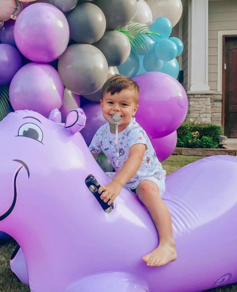 """<p>Sean and Catherine Giudici Lowe's son <a href=""""https://people.com/parents/sean-lowe-catherine-giudici-son-isaiah-hendrix-first-photos/"""" rel=""""nofollow noopener"""" target=""""_blank"""" data-ylk=""""slk:Isaiah Hendrix"""" class=""""link rapid-noclick-resp"""">Isaiah Hendrix</a> turned 3 on May 18.</p>"""