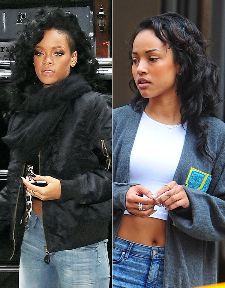 Chris Browns ex-girlfriend Karrueche Tran checks out of the SoHo Trump hotel and heads to the airport. 