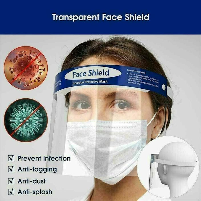 Face Shield Medical Safety Clear Protector Anti-Splash Work Lot