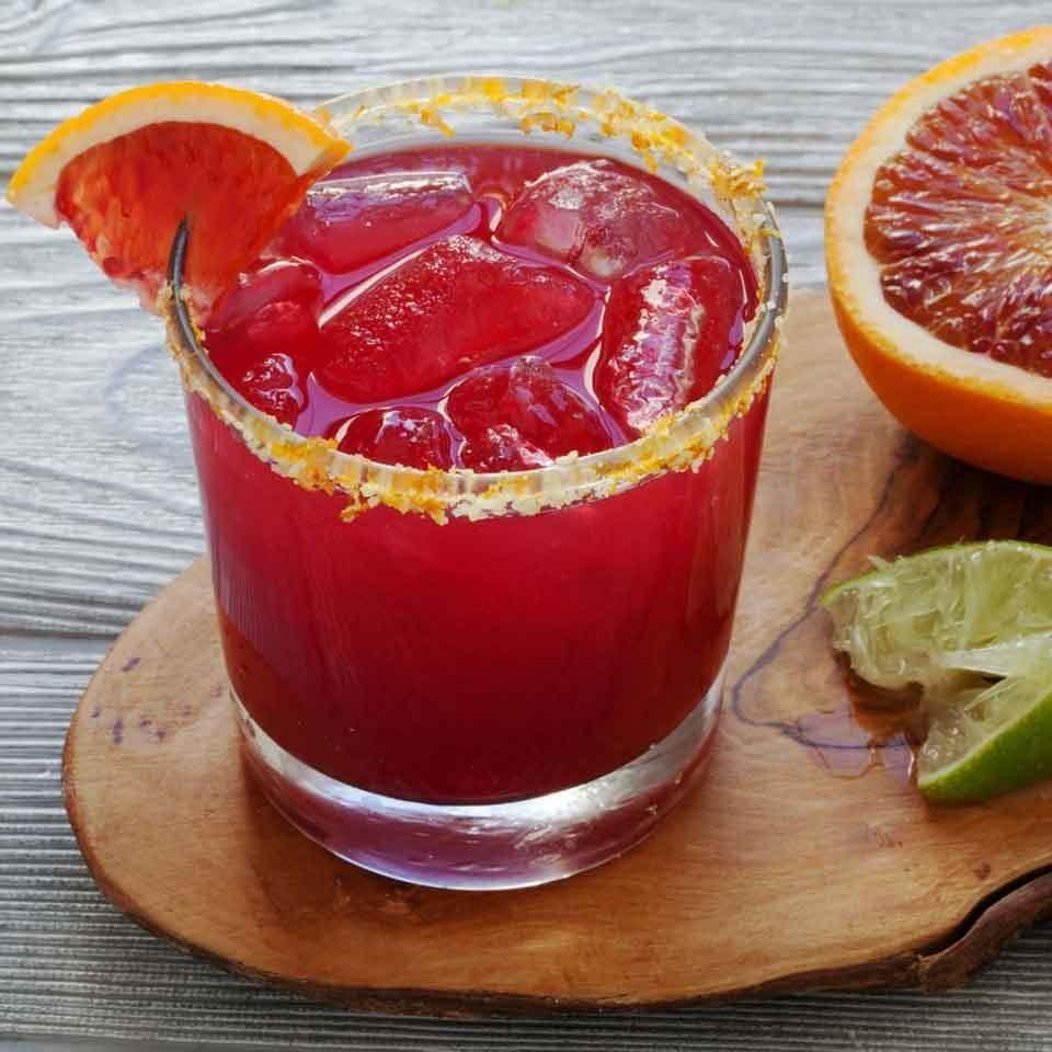 <p>Fresh blood orange juice gives this stunning pink cocktail just the right balance of sweet and sour. For the perfect finish, upgrade the salt rim on your glass by mixing in a little orange zest to add to both the presentation and flavor of these skinny margaritas.</p>