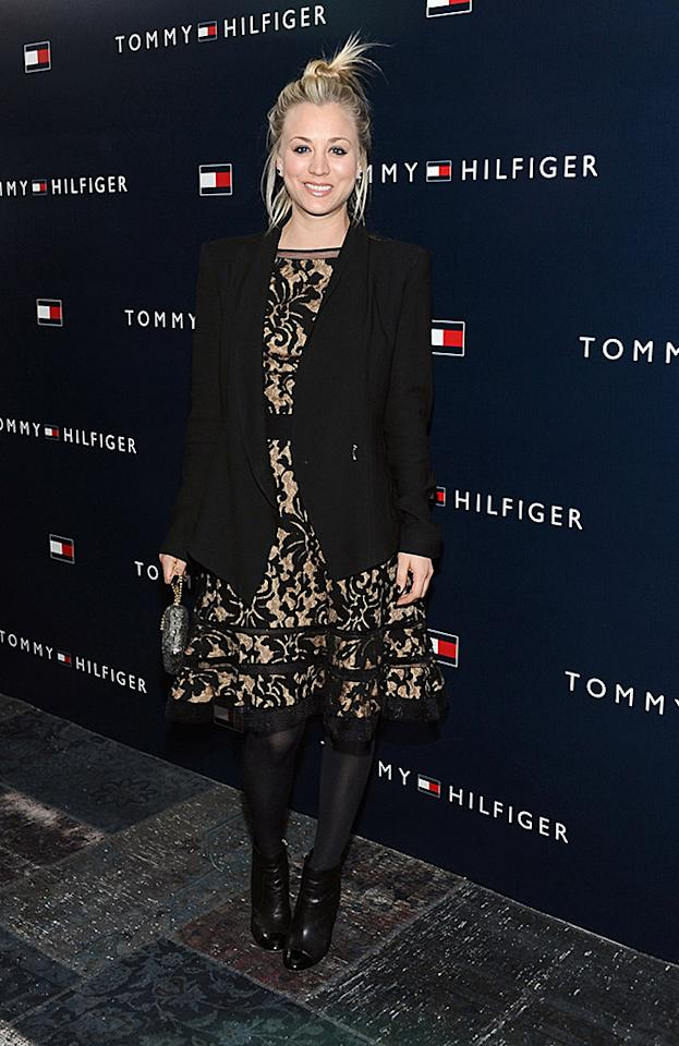 WEST HOLLYWOOD, CA - FEBRUARY 13:  Actress Kaley Cuoco attends Tommy Hilfiger New West Coast Flagship Opening After Party at a Private Club on February 13, 2013 in West Hollywood, California.  (Photo by Stefanie Keenan/Getty Images for Tommy Hilfiger)