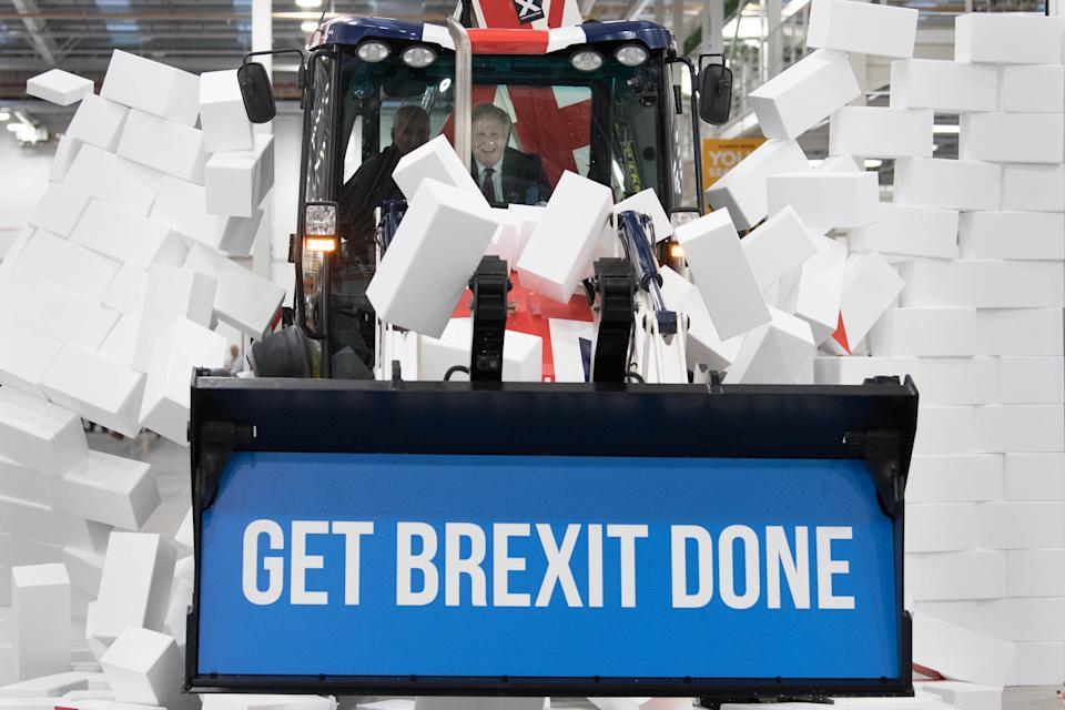 Johnson's Get Brexit Done slogan carried him to a massive victory in the 2019 General Election. (PA)
