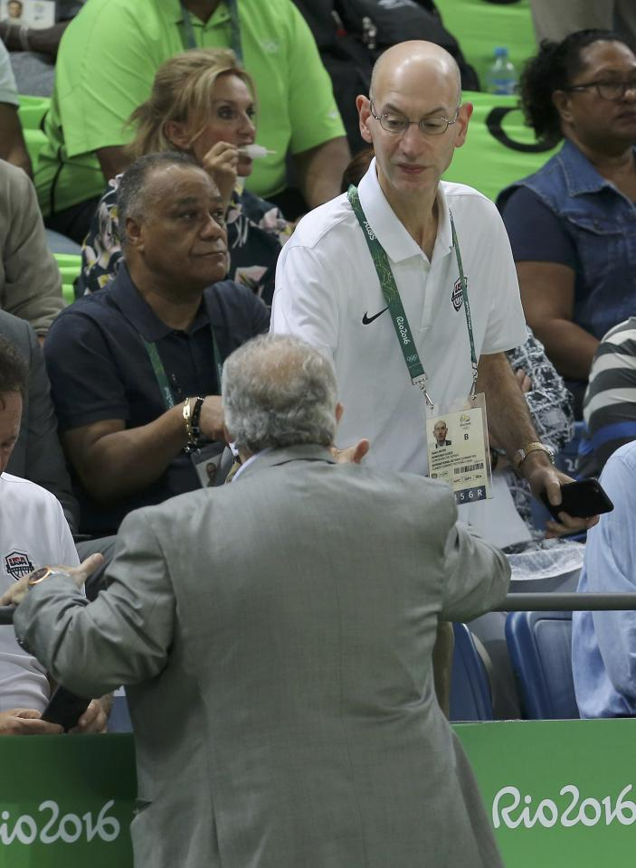 2016 Rio Olympics - Basketball - Semifinal - Men's Semifinal Spain v USA - Carioca Arena 1 - Rio de Janeiro, Brazil - 19/8/2016. NBA Commissioner Adam Silver attends the game. REUTERS/Jim Young  FOR EDITORIAL USE ONLY. NOT FOR SALE FOR MARKETING OR ADVERTISING CAMPAIGNS.