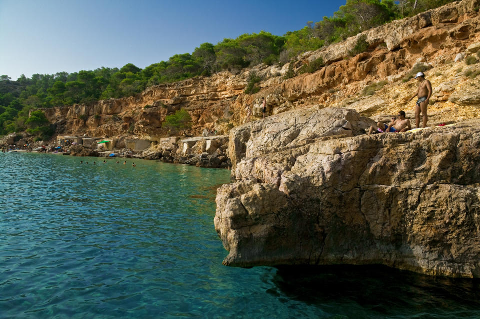 Punta Galera is popular with cliff jumpers due to the shelf-like rock formations. (Stock image, Getty)