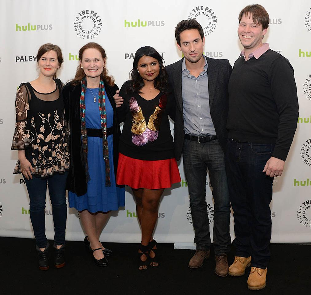 """Zoe Jarman, Beth Grant, Mindy Kaling, Ed Weeks and Ike Barinholtz attend the 30th Annual PaleyFest featuring the cast of """"The Mindy Project"""" at the Saban Theatre on March 8, 2013 in Beverly Hills, California."""