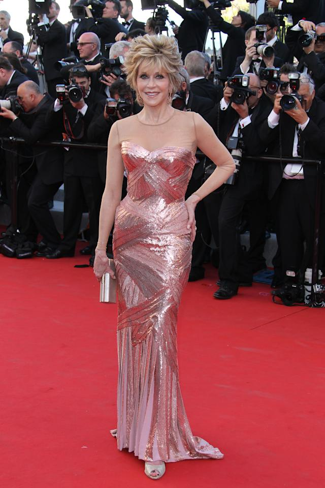 """<div class=""""caption-credit""""> Photo by: Tony Barson/FilmMagic</div><div class=""""caption-title""""></div><b>Best</b>: By reminding you that Jane Fonda is 74, I would belittling the sheer movie star glamour she's exuding all on her own. In that Atelier Versace gown , she blows starlets half her age out of the water. Still, she is seventy-freaking-four. I'll have what she's having. <br>"""
