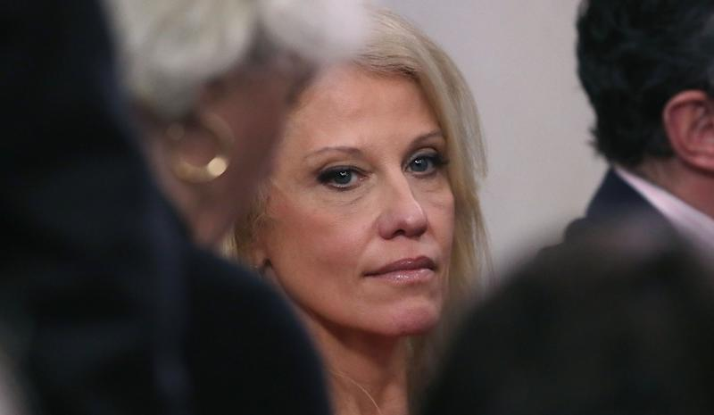 """Colbie Holderness, ex-wife of former White House staff secretary Rob Porter, is """"dismayed"""" by White House counselorKellyanne Conway's recent suggestion that only weak women are involved in abusive relationships."""