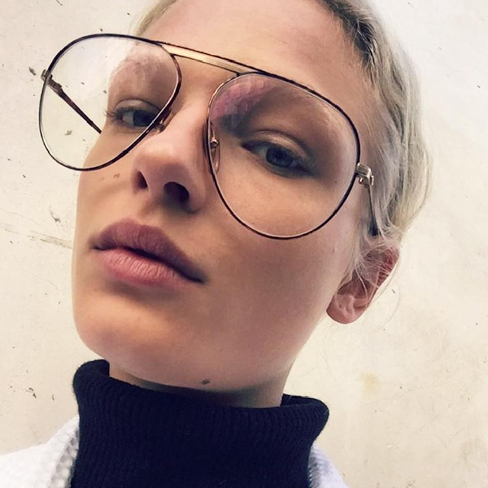 """<p>Of course, they're not the first to make granny glasses look chic. Model (and the face of Dior skincare) Frederikke Sofie has rocked goggle-shaped plastic frames and wire-rimmed aviator glasses for years, while actress Tavi Gevinson made them her trademark in the early aughts. But it doesn't just work if you're like, really pretty. Throwing on a pair of granny glasses can make anyone look cooler and quirkier — in a good way. """"I love when glasses are a bit too big for a face,"""" says Leith Clark, a celebrity stylist who counts Kiera Knightley and Alexa Chung as clients, and recently collaborated with Warby Parker on <a rel=""""nofollow"""" href=""""https://www.warbyparker.com/leith-clark?mbid=synd_yahoostyle"""">her own line of-the-moment frames</a>.</p><p>""""With granny glasses it can also be cool if they're a bit too small for a face,"""" says Clark. """"The rim is so skinny that either way it brings attention to the eyes. There's an awkward vulnerability that's so charming."""" While thicker lenses may work on the more daring (we're looking at you, Hailey Baldwin), anyone can pull off an ultra-thin frame. """"The thinner the wire, the more fragile they appear,"""" Clark explains. Looking like an off-duty model has never been this easy.</p><p>Try it for yourself with these lenses hand-picked by <em>Allure</em> accessories director Nicole Chapoteau.</p>"""