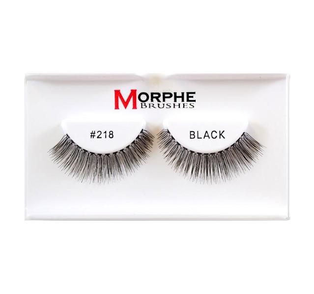 "<p>Mascara can get a little fussy, especially in the summer when it ends up sliding black tears down your face. Go mascara-less and pop on a pair of these lightweight faux lashes for an instant-wow factor that's tear-proof. (<a href=""https://www.universalnailsupplies.com/products/morphe-premium-lashes-219"" rel=""nofollow noopener"" target=""_blank"" data-ylk=""slk:$3.45"" class=""link rapid-noclick-resp"">$3.45</a>, universalnailsupplies.com) (Photo: Universal Nail Supplies) </p>"
