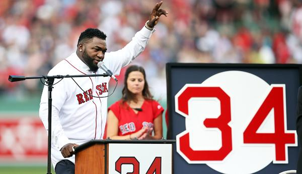 MLB: Boston Red Sox verewigen Nummer 34 von David Ortiz