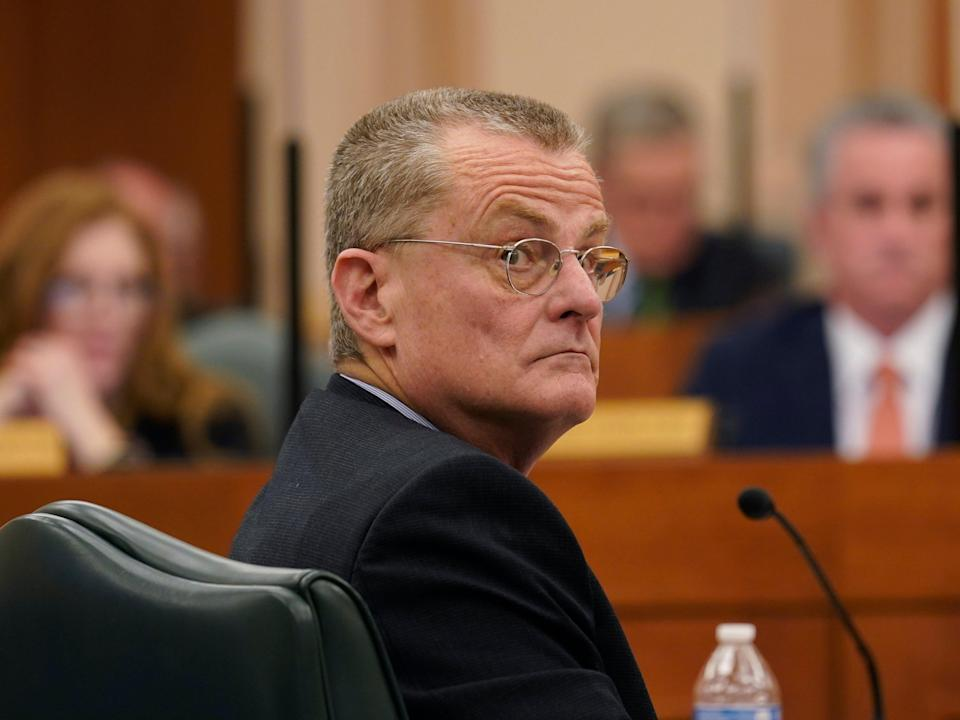 Bill Magness, President and CEO of the Electric Reliability Council of Texas (ERCOT), testifies as the Committees on State Affairs and Energy Resources hold a joint public hearing to consider the factors that led to statewide electrical blackouts (AP)