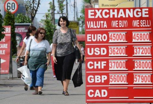 The first victim of the political row has been the local currency, the leu