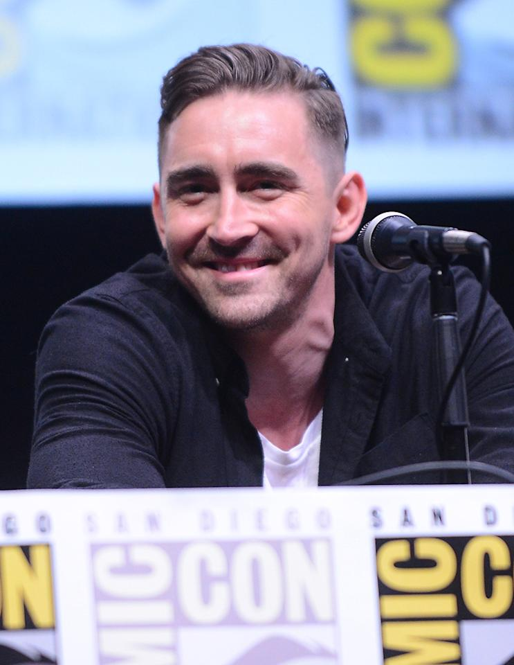 "SAN DIEGO, CA - JULY 20:  Actor Lee Pace speaks onstage at Marvel Studios ""Guardians of the Galaxy"" during Comic-Con International 2013 at San Diego Convention Center on July 20, 2013 in San Diego, California.  (Photo by Albert L. Ortega/Getty Images)"