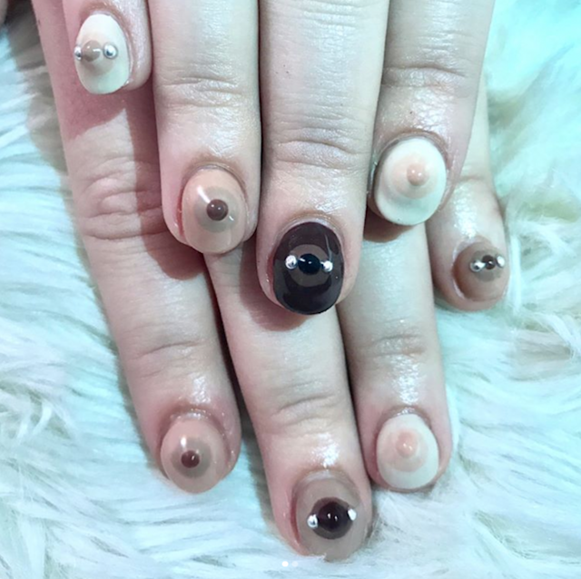Boob manicures are the latest nail art invention. (Photo: Instagram/nailsbymei)