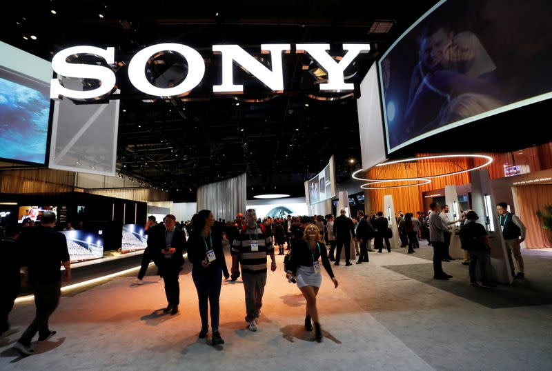 A view of the Sony booth during the 2020 CES in Las Vegas
