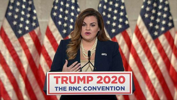 PHOTO: Abby Johnson speaks in a video aired during the second night of the Republican National Convention, Aug. 25, 2020. (Republican National Convention)