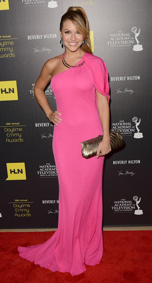 Chrishell Stause arrives at The 39th Annual Daytime Emmy Awards held at The Beverly Hilton Hotel on June 23, 2012 in Beverly Hills, California.