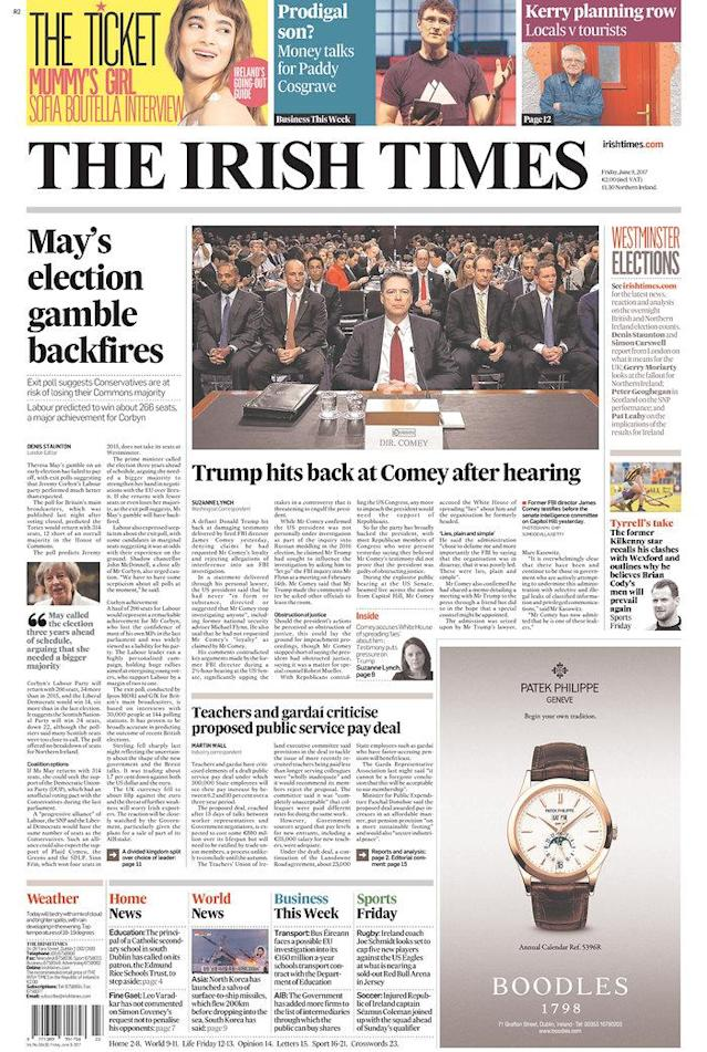 "<p>""Irish Times,"" published in Dublin, Ireland. (Newseum) </p>"