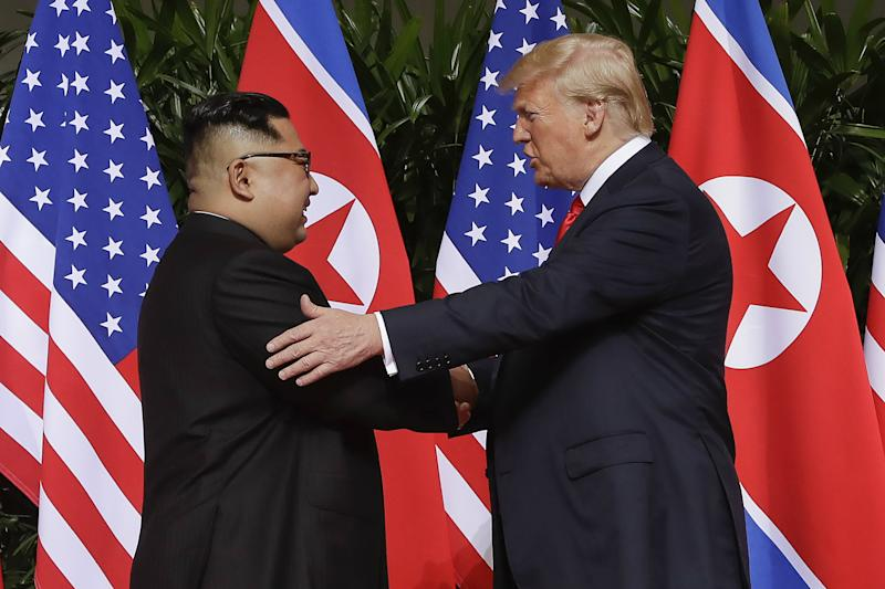 President Trump with Kim Jong Un