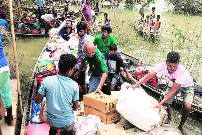 Each of the 110 RHA city teams has adopted five villages and is serving rations to people for five days ending August 15