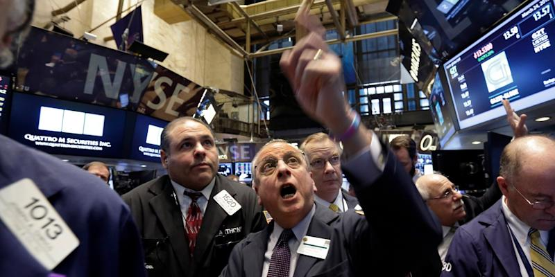 stock trader distraught angry