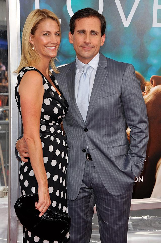 "<a href=""http://movies.yahoo.com/movie/contributor/1804514078"">Steve Carell</a> and wife Nancy at the New York City premiere of <a href=""http://movies.yahoo.com/movie/1810157025/info"">Crazy, Stupid, Love</a> on July 19, 2011."