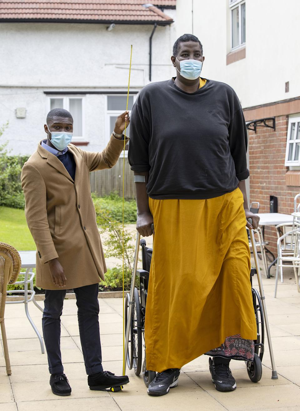 Hussain Bisad the second tallest man in the world at 7ft 8.9ins living in a care home in Harrow after a Kidney transplant meets My London's Thomas Kingsley