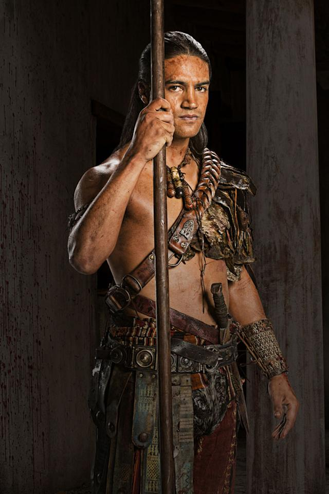 "Pana Hema-Taylor as Nasir in ""Spartacus: War of the Damned"" on Starz."